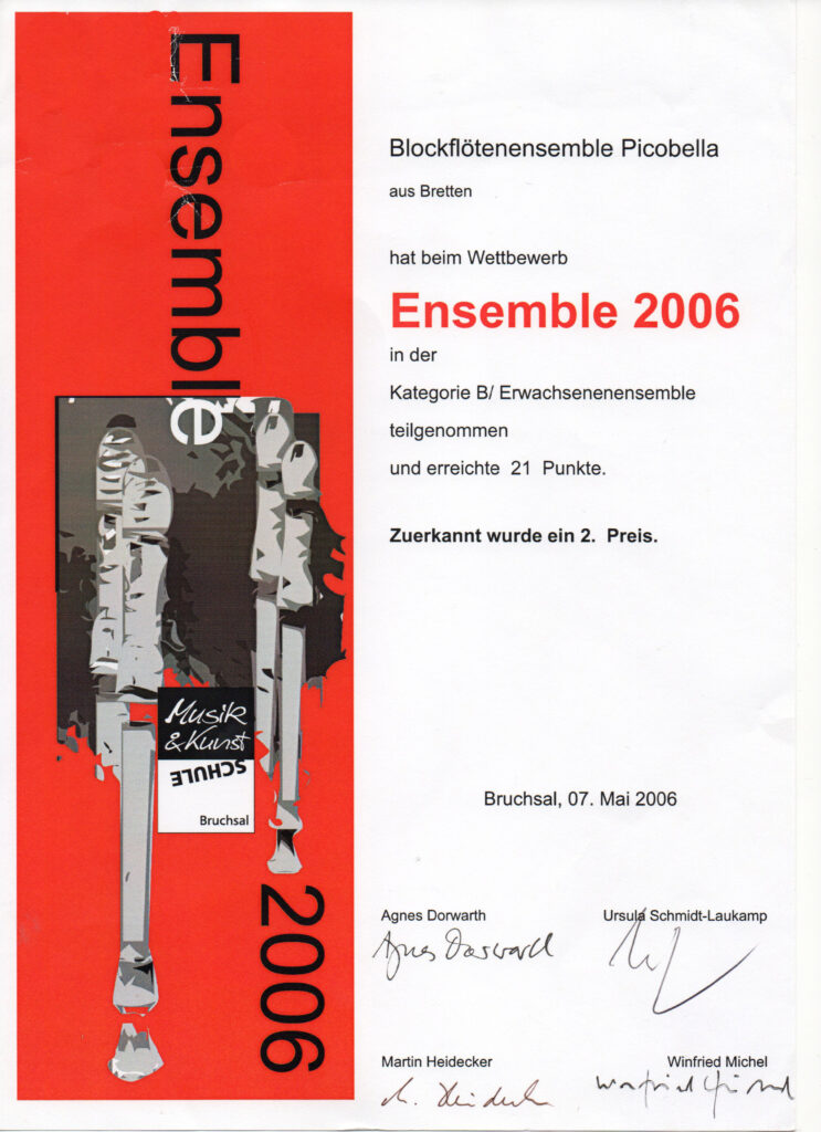 """Teilnahme beim """"Ensemble 2006"""""""